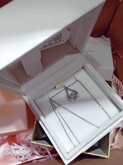 钻石世家 爱随心动18K金钻石吊坠 女款显钻时尚钻石项链 送女友送老婆礼物 专柜同款 18K白(现货) 吊坠配K金项链(肖邦链45cm可调节) 晒单图