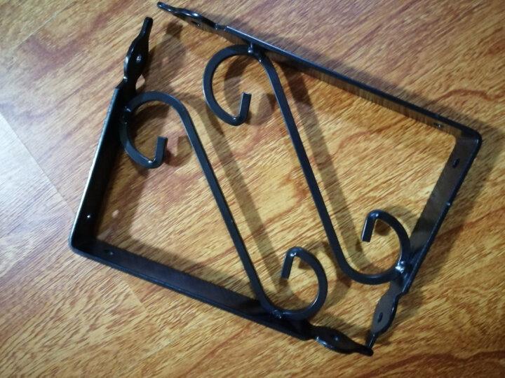 黑S型三角支架墙桌面架欧式铁艺三角支架层板置物架托架九比三角托架 不含隔板 300X300X25mm两支价格 晒单图