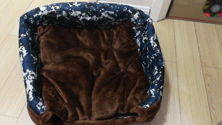 【送凉席】麦豆(Madden)狗窝猫窝 可拆洗春夏小型犬泰迪宠物窝垫房子蒙古包狗屋宠物用品 【送凉席】格子图案 窝+垫(商家发货) 小号 晒单图