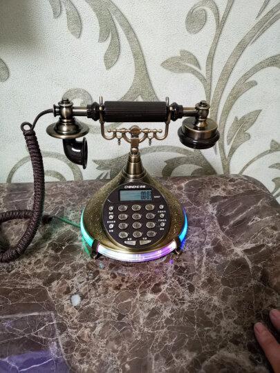 中诺S007 仿古电话机 欧式复古 商务 办公 家用 固定电话座机 有绳电话机 青铜色 晒单图