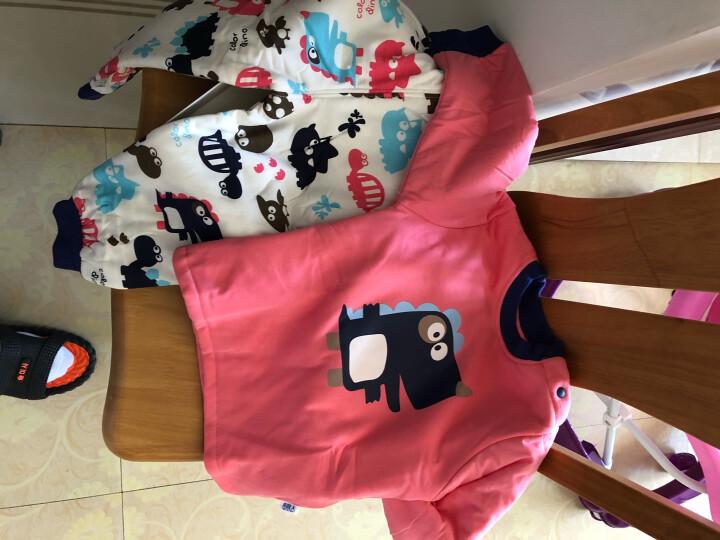 南极人(Nanjiren) 婴儿加厚保暖宝宝纯棉春秋季加厚夹棉内胆两件套男女儿童棉服棉裤 喷气小机车橙色 100cm 晒单图