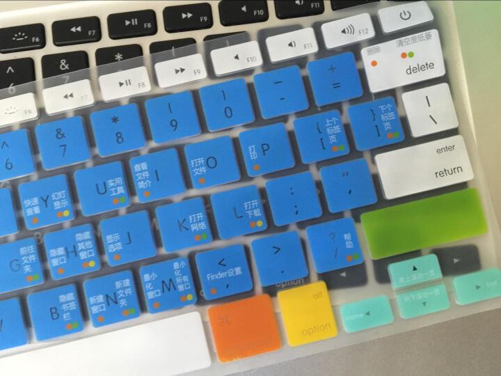 倍晶 mac苹果macbook笔记本air电脑pro13.3键盘保护13贴12彩色15膜新Pro16 透光升级版神秘黑 11.6英寸Air11 晒单图