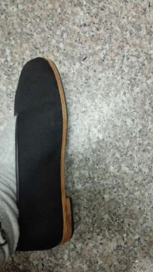 同升和 老北京布鞋传统手工皮底礼服呢男士布鞋 防滑贴胶 42 晒单图