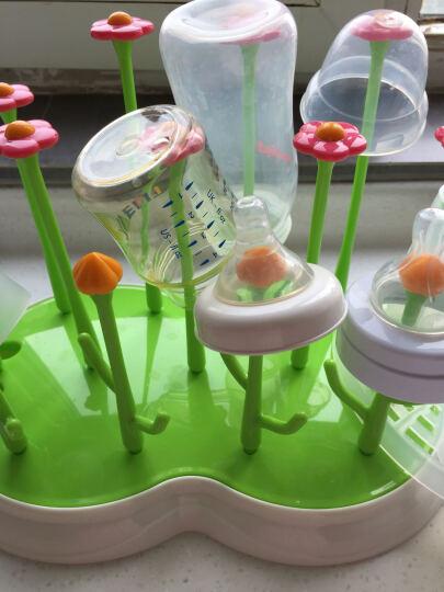 日康奶瓶干燥架 奶瓶架晾干架奶瓶晾晒架 RK3692绿色花园干燥架 晒单图