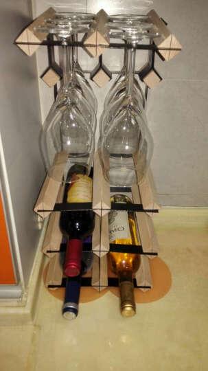 酒架进口实木红酒架 6支酒架挂杯架 挂杯酒架 木质悬挂红酒杯架 家用多功能酒杯酒架 晒单图