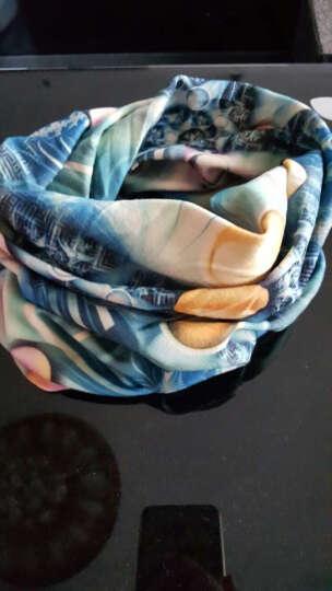 哲时 冬季韩版潮女士头巾包头套头帽子堆堆帽化疗帽月子帽MZ1237 墨绿旗子 均码可拉伸55-62头围 晒单图