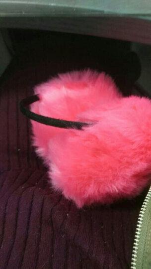 百尚意特 冬季保暖女士儿童耳罩 可爱毛绒加厚耳套 防风耳暖护耳耳包 黑色 晒单图