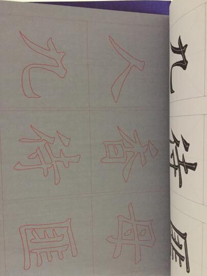 华夏万卷·田英章楷书毛笔水写放大版字帖:基本笔画+偏旁部首+间架结构(套装共3册) 晒单图