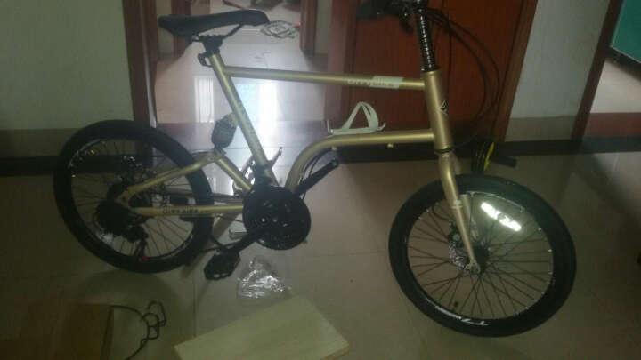 T7山地车自行车21速20寸禧玛诺变速通勤单车学生成人男女士儿童学生时尚轻便复古小轮自行车 香槟金 晒单图