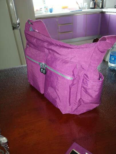 法姿frazzil 尼龙女包 斜挎包 单肩休闲女士包轻便旅游布包 1400 紫红纯色 晒单图