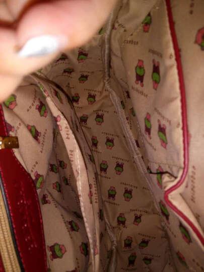 北包包2016新款双肩包 女士包包时尚韩版学生背包休闲女包学院风 米白色. 大 晒单图