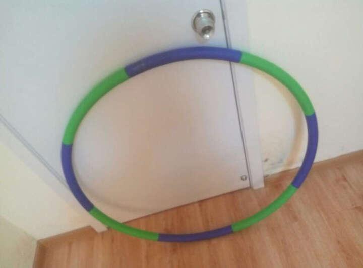 米客 男女呼啦圈韩式成人软指压可拆卸海绵健身弹簧健身运动器材家用 灰绿色 2磅 晒单图