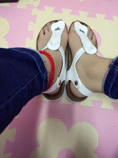 韩国进口纸飞机paperplanes纸飞机情侣休闲运动凉鞋夏季新款SN220 棕色 A2(34) 晒单图