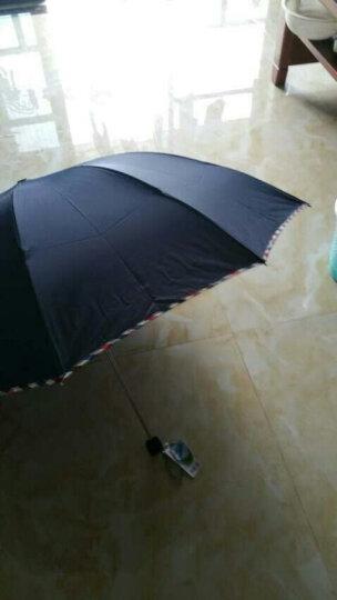 天堂伞加大雨伞男士折叠加固太阳伞女商务遮阳伞晴雨伞 伞弧128cm+3311咖啡色 晒单图