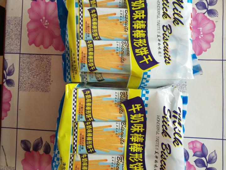 Aji 饼干蛋糕 儿童零食 棒棒形手指饼干 牛奶味 192g/袋 晒单图