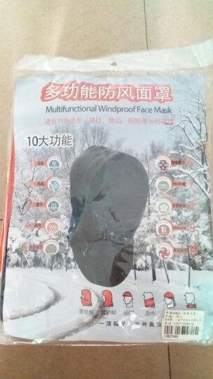 单骑 DANQI  骑行头套山地自行车头罩围脖面罩秋冬防风尘霾抓绒保暖帽  黑色 晒单图