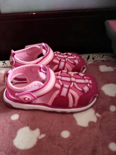 小猪快跑宝宝凉鞋女幼儿童鞋包头学步鞋软底男婴儿凉鞋机能鞋夏季 紫色 150码/内长约15.0cm 晒单图