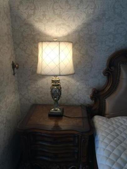 络曼(LUOMAN)礼品礼物创意定制欧式卧室床头台灯美式乡村客厅复古节日装饰台灯 EA2034-B  中号 晒单图