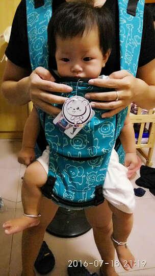 婴儿背带腰凳 多功能四季通用透气款 湖绿色纯棉印花含帽 均码 晒单图