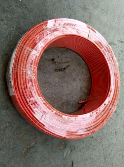 woer 沃尔2.5平方国标铜芯电线低烟无卤阻燃 单芯多股双层软电线100米/盘家装插座用线 红色 晒单图