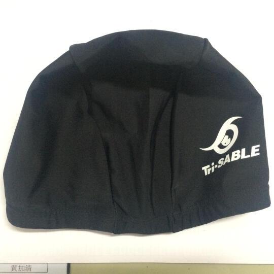 黑貂SABLE莱卡布游泳帽子 柔软舒适长发护耳男女立体设计SCN 粉红 晒单图