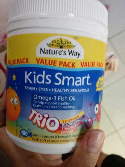 Nature's Way 【澳洲直邮包邮】进口佳思敏儿童复合维生素软糖鱼油系列 三合一鱼油益生菌 DHA 眼脑发育180粒 晒单图