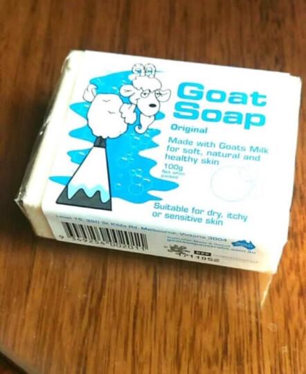 Goat Soap澳洲进口羊奶皂 手工洁面皂 儿童孕妇洗澡沐浴洗脸香皂肥皂 温和护肤全家适用 原味实惠装100g*3 晒单图
