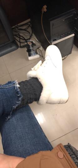 萨诗汀过膝袜子女日系韩国学院风学生高筒韩版长筒秋冬款长袜VIVI二杠过膝 黑白杠 均码 晒单图