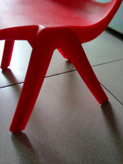 宝之轩(Babyshow) 加厚儿童椅子幼儿园椅幼儿椅靠背椅子幼儿园桌椅塑料椅子 大班30cm 绿色 晒单图