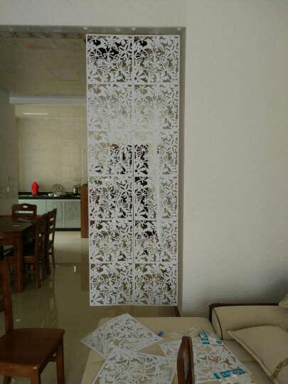 享泽家居 4个装现代简约雕花墙贴纸客厅卧室餐厅镂空挂式隔断屏风创意墙贴画电视背景墙 白色 4个装 晒单图