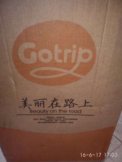 gotrip设计师原创少女插画20/24英寸 旅行箱万向轮拉杆箱子万向轮行李箱包 想念 20英寸 晒单图