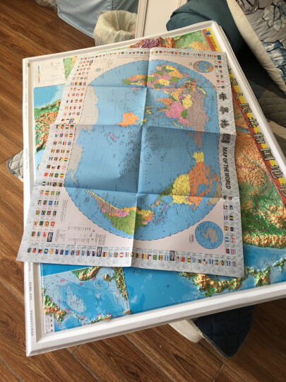 2018中国地形图挂图  中国凹凸地形图 pvc地形图 全国立体地图 立体展示 晒单图
