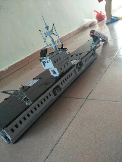 启蒙 积木玩具军舰儿童益智拼插拼装玩具男孩兼容乐高军事航空母舰6-8-10-12岁以上 113大型航母全长1米 晒单图