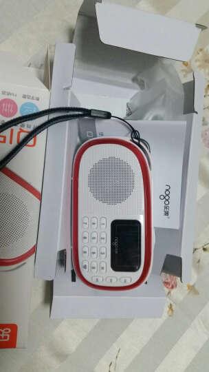 乐果(nogo)Q15 小脚丫 学习机 收音机 插卡音箱 唱戏机 点歌机 晨练散步 MP3 迷你音响 雅致红 晒单图