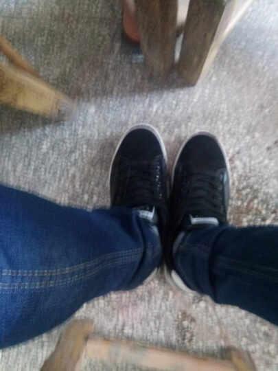 货到付款春秋冬季青少年男士休闲鞋透气白韩版潮流学生运动板鞋增高男鞋单鞋 绿色 40 晒单图