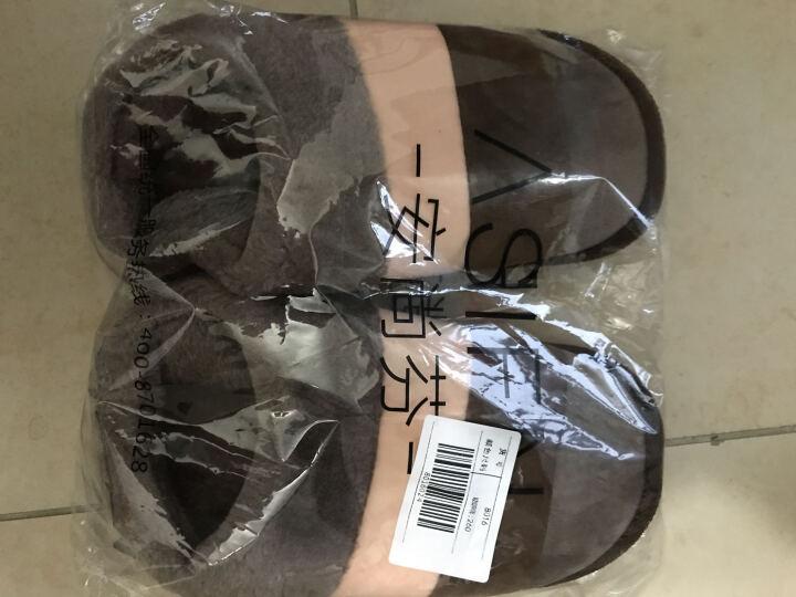 安尚芬 棉拖鞋 男女士情侣拖鞋居家防滑厚底保暖半包跟棉鞋 紫色 260 38-39适合37-38 晒单图