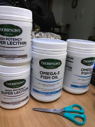 汤普森(Thompsons)【官方授权】新西兰直邮 汤普森 Thompson's 大豆卵磷脂胶囊降血压降三高降血脂200粒 2瓶 晒单图