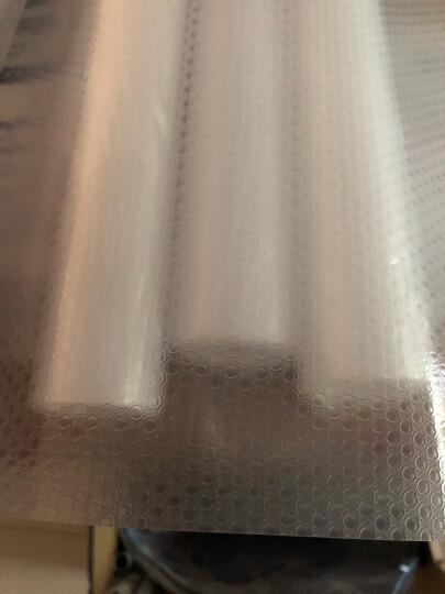 买四免一 莫吻居家橱柜垫纸抽屉垫衣柜垫鞋柜垫防水防油污抽屉纸防尘垫厨房防潮垫纸厨房用品 EVA加厚透明白 60CM*150CM 晒单图