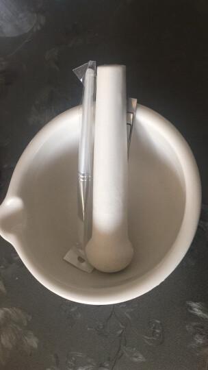 苏立得 陶瓷研钵 乳钵研药碗捣药罐研磨棒药臼杵 中西药研磨碗捣碎 不锈钢药勺 3 支 晒单图