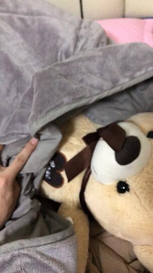 斯诺曼(snowman)床品家纺 抱枕被子 两用靠垫 办公室沙发汽车靠枕 床头靠背护腰靠垫腰枕 卡其色 110*140cm 晒单图