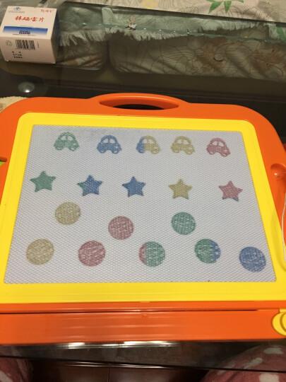 琪趣儿童磁性画板9988A紫色 宝宝涂鸦板幼儿彩色写字板超大号磁力画板小黑板1-2-3岁玩具手绘画画工具 晒单图
