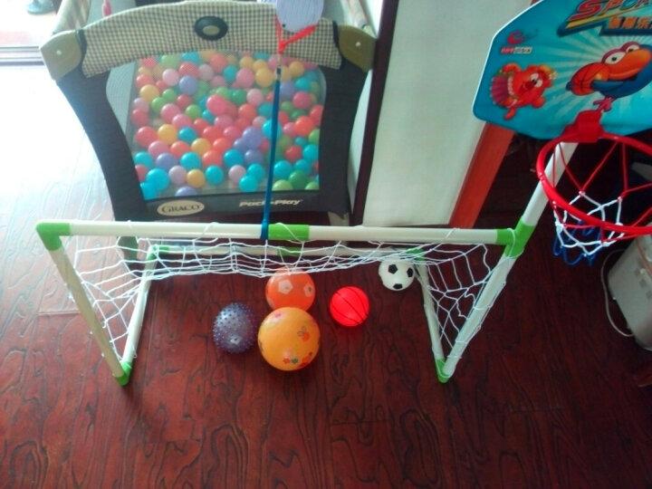 足球门篮球架2合1室内运动户外儿童玩具球类体育儿童器材蓝球筐 晒单图