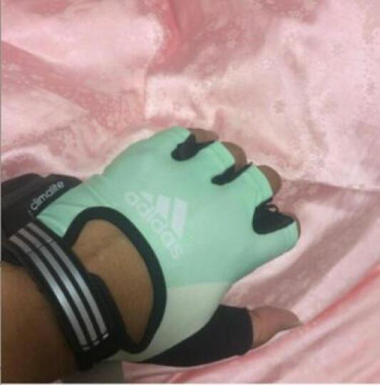adidas Adidas阿迪达斯健身手套女运动骑行半指器械手套训练防滑耐磨透气手套 草绿色 M(1米65-1米7) 晒单图