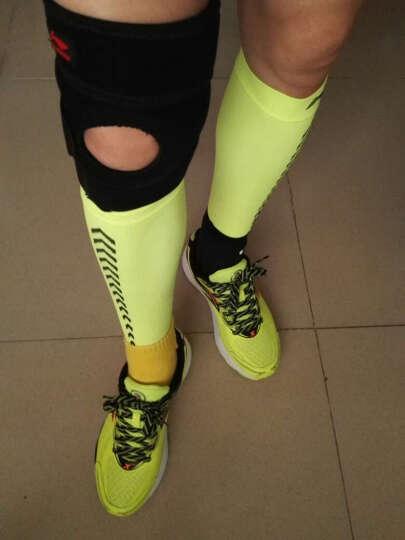 李宁 高弹力透气护腿护小腿 运动跑步 2只装 596-1荧光绿透气护腿L码 晒单图