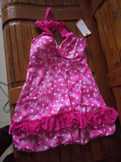 奇海(QIHAI) 奇海分体泳衣女士保守显瘦遮肚游泳衣带胸垫二件套裙式泳装 粉色QH3105-2 L 晒单图