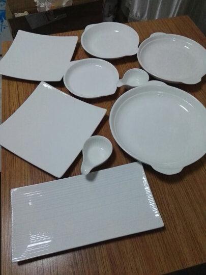 同光陶瓷餐具长方盘子创意长条盘子韩式烤肉盘 寿司盘长方点心盘 12寸英俊线条长方盘 晒单图