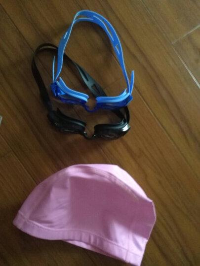 宜肤PU涂层布泳帽 防水透气长发男女帽游泳不勒头泳帽 粉色 晒单图
