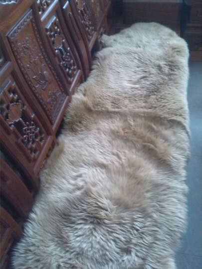 恒源祥 整张羊皮澳洲羊毛床上用品舒适单双人毛毯秋冬保暖羊毛皮毯皮毛一体拼接羊皮 象牙白 (定做 15天左右发货) 8P 晒单图