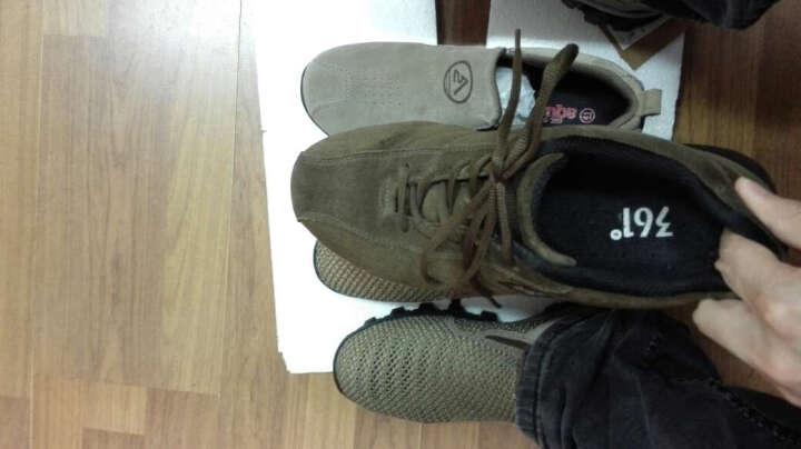 跨途(AQUATWO) 跨途2017年户外运动休闲鞋男套脚登山徒步鞋反绒皮鞋子大码一脚蹬 黑色头层皮 40 晒单图