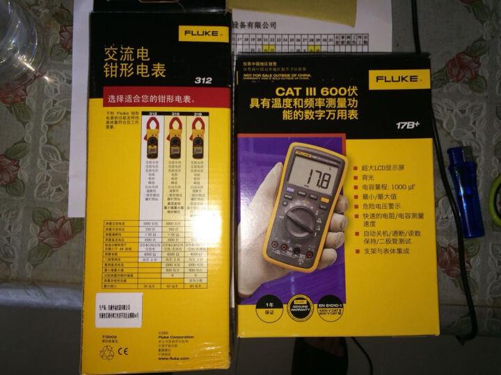 FLUKE/福禄克交直流电压电流电阻测试 钳形电流钳形万用表F312 晒单图